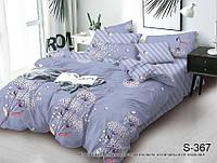 Двуспальный комплект постельного белья с компаньоном на молнии сатин люкс S367
