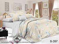 Двуспальный комплект постельного белья с компаньоном на молнии сатин люкс S357