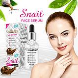 Коллагеновый крем для лица с муцином улитки Snail Collagen омоложение + увлажнение + питание + анти акне 80g, фото 4