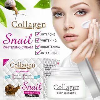 Коллагеновый крем для лица с муцином улитки Snail Collagen омоложение + увлажнение + питание + анти акне 80g