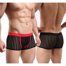 Мужские сексуальные прозрачные трусы боксеры Versal, фото 3