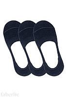 Носки-невидимки, цвет тёмно-синий, размер 36-38