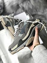 Женские кроссовки в стиле Balenciaga Triple S Grey, фото 3