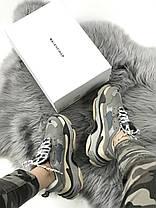 Женские кроссовки в стиле Balenciaga Triple S Grey, фото 2