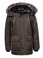 Куртка-парка теплая/зимняя мужская хаки XL