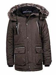 Куртка-парка теплая/зимняя мужская хаки Glo-Story