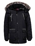 Куртка-парка теплая/зимняя мужская черная Glo-Story