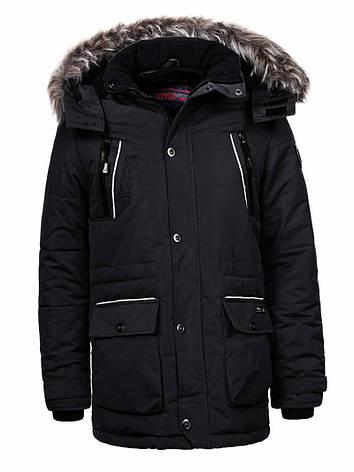 Куртка-парка теплая/зимняя мужская хаки, фото 2