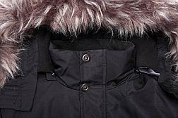 Куртка-парка теплая/зимняя мужская хаки, фото 3
