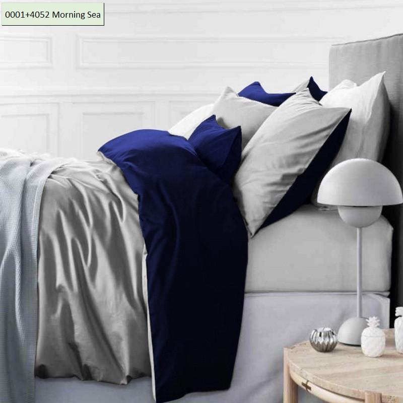 Комплект постельного белья двуспальный 175х210 Сатин 0001+4052 Morning Sea