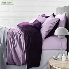 Комплект постельного белья двуспальный 175х210 Сатин 0001+4052 Morning Sea, фото 3