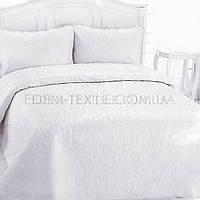 Красивое покрывало на двуспальную кровать Laver, Молочный, 240х260