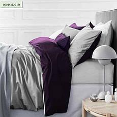 Комплект постельного белья двуспальный 175х210 Сатин 0251+0240 Smoke, фото 3