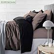 Комплект постельного белья двуспальный 175х210 Сатин 0251+0240 Smoke, фото 4