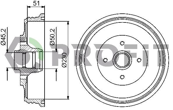 Сделано в Чехии Диск тормозной задний VW CADDY 95-04. SEAT INCA 95-03