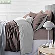 Комплект постельного белья двуспальный 175х210 Сатин 0251+0240 Smoke, фото 5