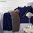 Комплект постельного белья двуспальный 175х210 Сатин 0251+0240 Smoke, фото 6