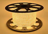 Светодиодная лента SMD 2835 (120 led/m) Slim IP68 Белая теплая 220V Econom