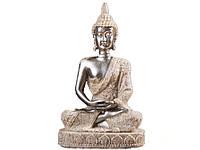 Статуэтка в виде сидящего Будды  Серебристый