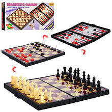 Шахматы 3в1 (шашки, нарды), магнитные