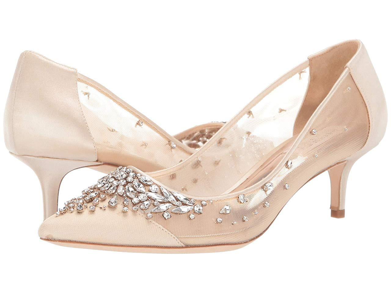 Туфли на каблуке (Оригинал) Badgley Mischka Onyx Ivory