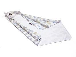 Летнее одеяло с капюшоном Cottonmoose KSK 415/83/51 leaf blue cotton white cotton jersey (белый (перья))