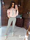 Утепленный спортивный костюм на флисе с худи и капюшоном 66so805Q, фото 2