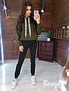 Утепленный спортивный костюм на флисе с худи и капюшоном 66so805Q, фото 5