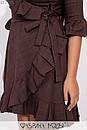 Джинсовое платье на запах в больших размерах с оборками 1ba336, фото 4