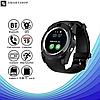 Умные часы Smart Watch V8 сенсорные - смарт часы Чёрные, фото 5
