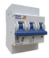 Вимикач автоматичний BM-63 3п/40А/6кА KEAZ Optima для мереж змінного струму, фото 1
