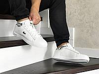 Мужские кроссовки белые Lacoste 8519