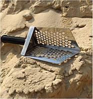 Пляжный совок (скуп) Scoop triangle  ➜толщина 1.5мм ➜отверстие 7мм ➜размер100×140 мм, фото 1