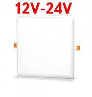 Потолочный светильник раздвижной 24W 12-24V DC 5000K квадратный Код.59681