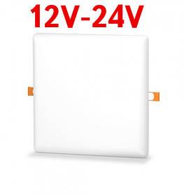 Потолочный светильник раздвижной 22W 12-24V DC 5000K квадратный Код.59681