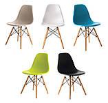 Пластиковый стул на буковых ножках M-05 серый Vetro Mebel (бесплатная доставка), фото 10