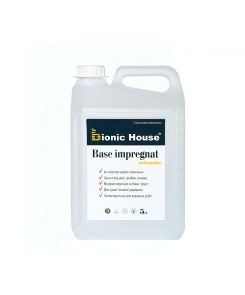 """Антисептик для дерева Bionic-House """"BASE IMPREGNAT"""" (концентрат 1:10) 5,0л"""