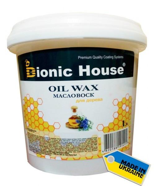 """Масло с твердым воском Bionic-House для паркета """"Hard wax oil"""" 1л"""
