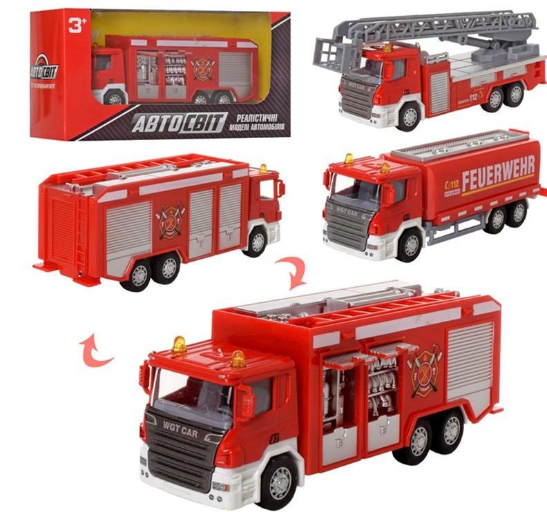 Машинка металлическая инерционная Пожарная