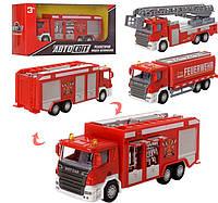 Машинка металлическая инерционная Пожарная, фото 1