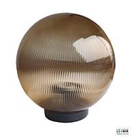 Накладной садово-парковый светильник шар Electrum Опал 200 золотой призматический (B-IP-0767)