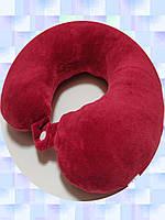 Подушка LSM для путешествий 30х30х9 красная    (105-74)