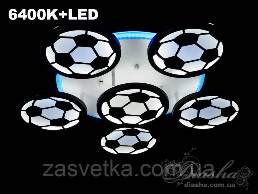 Потолочная LED-люстра с диммером и подсветкой, 120W 8065/5+1