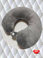 Подушка LSM для путешествий 30х30х9 серая    (105-84)