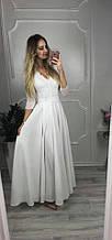 Платье Лиана в пол свадебное на роспись вечернее выпускное  гипюр плаття 42 44 46 48 50 Р