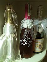 Свадебные аксессуары ( свадебные бокалы), шампанское ( свадебное, юбилейное, праздничное)