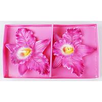 Набор декоративных свечей в (2шт) Орхидея в 9.8см