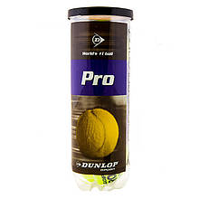 Мяч теннисный Dunlop Pro, синий