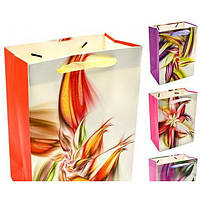 """Пакет подарочный бумажный """"Magic flower"""" 12шт/уп 42*31*12см R27261 (360шт)"""