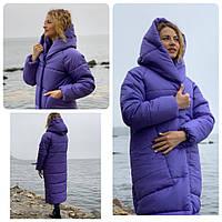 Куртка кокон длинная зима в стиле одеяло M500 ультрафиолет